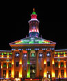 Denver City & County Building, Decorated for the Holidays
